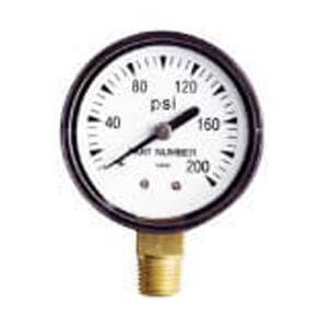 "2"" Pressure Gauge - 0-200 PSI - 1/4"" Bottom Product Image"