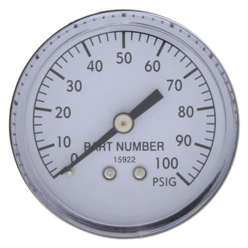 """2"""" Pressure Gauge - 0-100 PSI - 1/8"""" Back Product Image"""