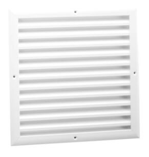 "14"" x 14"" White Aluminum Transfer Door Grille w/ Frame (TG Series) Product Image"
