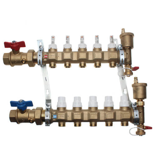 "1"" TwistFlow Manifold w/ Temp Gauge (5 Outlets) Product Image"