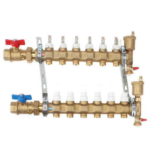 "1"" TwistFlow Manifold w/ Temp Gauge (6 Outlets) Product Image"