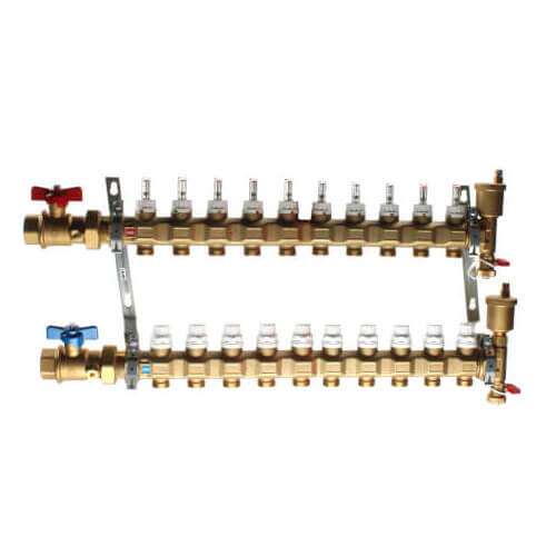 "1"" TwistFlow Manifold w/ Temp Gauge (8 Outlets) Product Image"