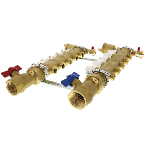 "1-1/4"" Inverted TwistFlow Manifold w/ Temp Gauge (5 Outlets) Product Image"