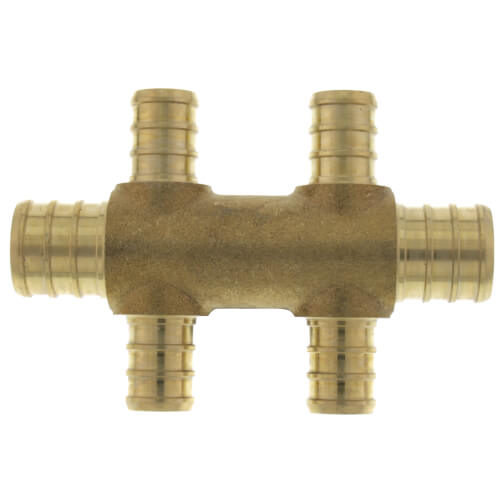 """PEX Crimp Multiport Tee (4) 1/2"""" Branches (2) 3/4"""" Trunk Ends Product Image"""