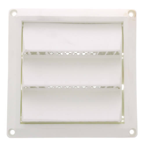 "3"" White Plastic Fixed Louver Vent w/ 3"" Pipe Product Image"