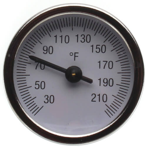 """2"""" Temperature Gauge with Pocket Well for Manifolds Product Image"""
