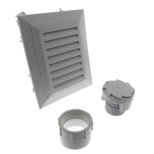 "20 DFU TurboVent Air Admittance Valve w/ Access Box - 1-1/2"" PVC Thread x Hub Adapter Product Image"