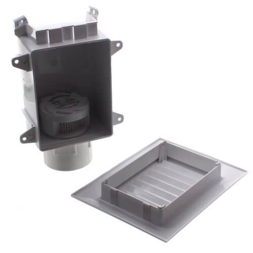"160 DFU TurboVent Air Admittance Valve w/ Access Box - 2"" PVC Thread x Hub Adapter Product Image"