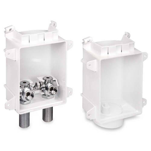 """Ox Box Washing Machine Outlet Box Rough-In Pack - 1/2"""" Female Sweat, Lead Free Product Image"""