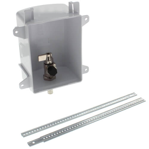 """Ox Box Ice Maker Outlet Box Rough-In Pack - 1/2"""" PEX Crimp (Lead Free) Product Image"""