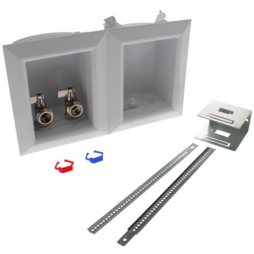 """Ox Box Washing Machine Outlet Box Standard Pack - 1/2"""" PEX Crimp Connection (Lead Free) Product Image"""