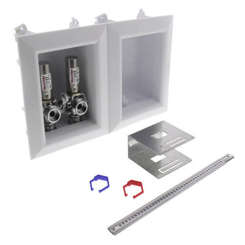 """Ox Box Washing Machine Outlet Box w/ Mini-Rester Water Hammer Arresters Standard Pack - 1/2"""" CPVC Male (Lead Free) Product Image"""
