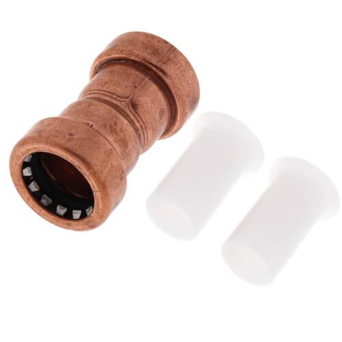 "1/2"" CopperLoc Push Fit Coupling w/ Stop Product Image"