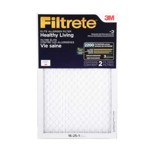 "16"" x 25"" x 1"" Filtrete Ultrafine Particle Reduction Filter - 2 Pack (UF01-2PK-1E) Product Image"