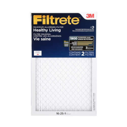 """16"""" x 25"""" x 1"""" Filtrete High Performance Air Filter, 1900 MPR (UA01DC-6) Product Image"""