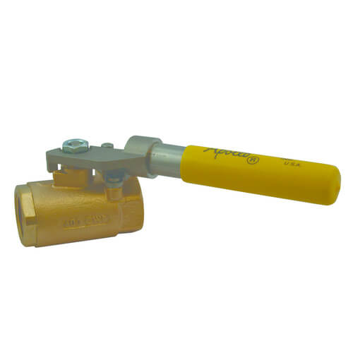 "1-1/2"" Threaded Shut-Off Ball Valve w/ Spring Return Handle Product Image"