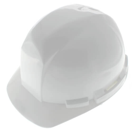 White SAS Safety 7160-45 Hard Hat with 6-Point Ratchet