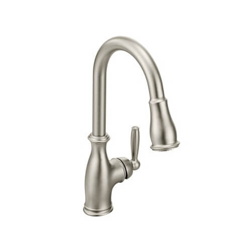 Brantford 1-Handle High Arc Pull-down Kitchen Faucet (Spot Resist Stainless)