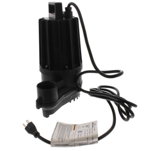 Aqua-Mate N72 Thermoplastic Non-Automatic Sump Pump - 0.3 HP, 9 Ft Cord Product Image