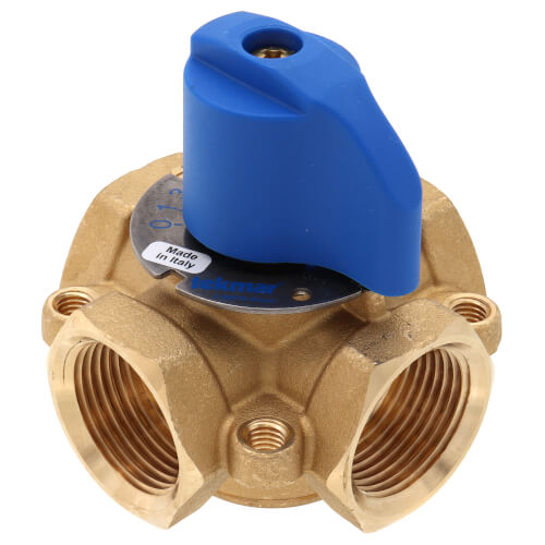 "1"" Brass 4-Way Mixing Valve Product Image"