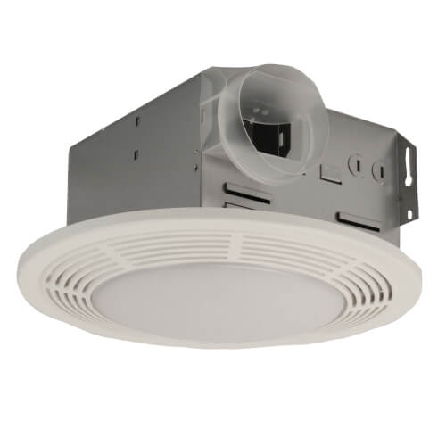 "Model 750 Ventilation Fan w/ Light & Night Light, 4"" Round Duct (100 CFM) Product Image"