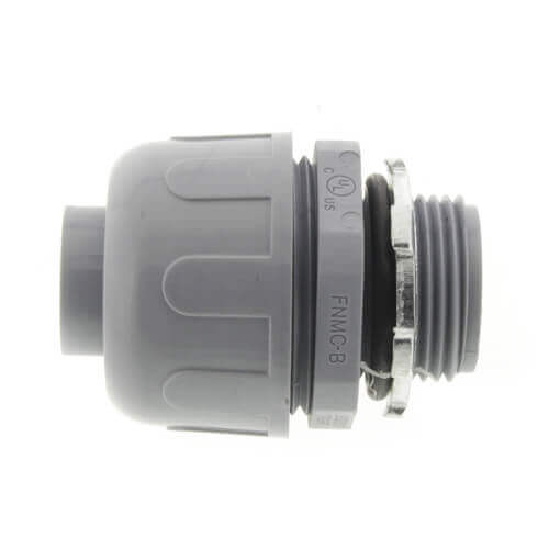 "1-1/4"" Plastic Liquid Tight Straight Connector (Grey) Product Image"