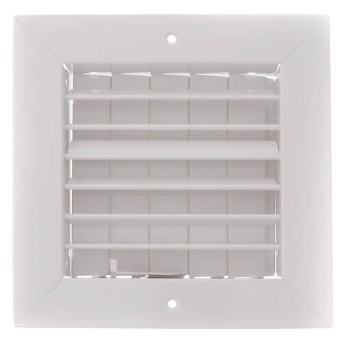 """8"""" x 8"""" (Wall Opening Size) White Commercial Supply Register (821 Series) Product Image"""