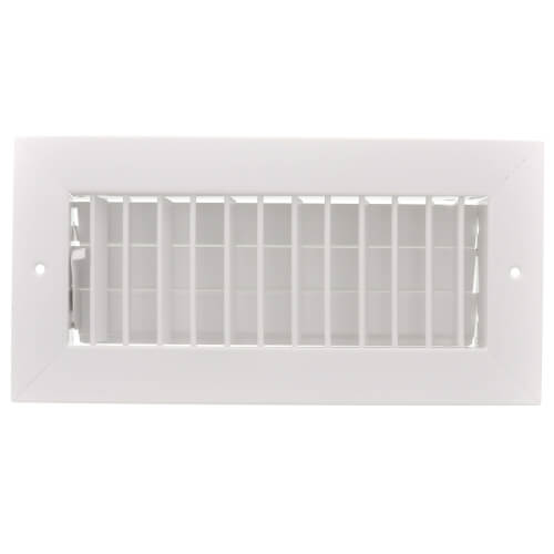 """10"""" x 4"""" (Wall Opening Size) White Commercial Supply Register (821 Series) Product Image"""