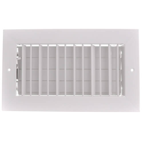 """10"""" x 5"""" (Wall Opening Size) White Commercial Supply Register (821 Series) Product Image"""