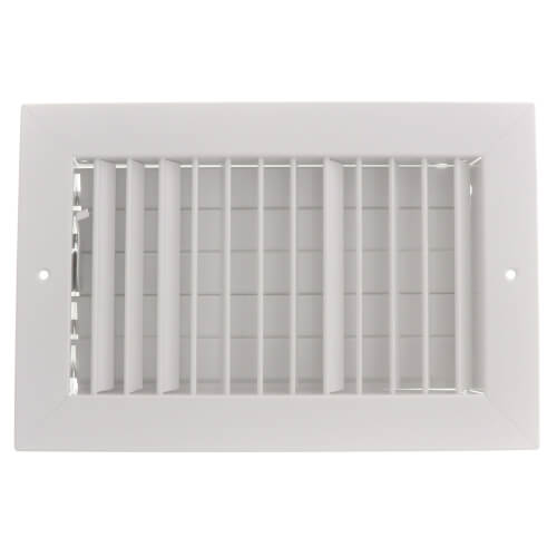 "10"" x 6"" (Wall Opening Size) White Commercial Supply Register (821 Series) Product Image"