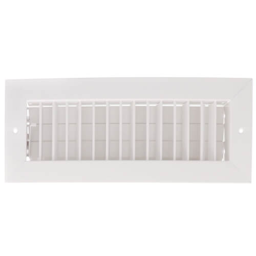 """12"""" x 4"""" (Wall Opening Size) White Commercial Supply Register (821 Series) Product Image"""