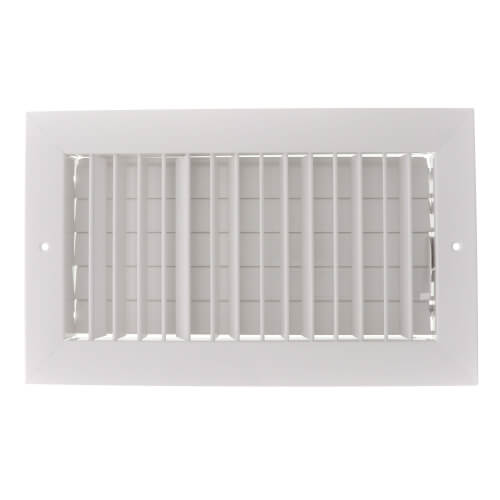 """12"""" x 6"""" (Wall Opening Size) White Commercial Supply Register (821 Series) Product Image"""