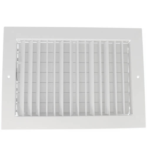 """12"""" x 8"""" (Wall Opening Size) White Commercial Supply Register (821 Series) Product Image"""