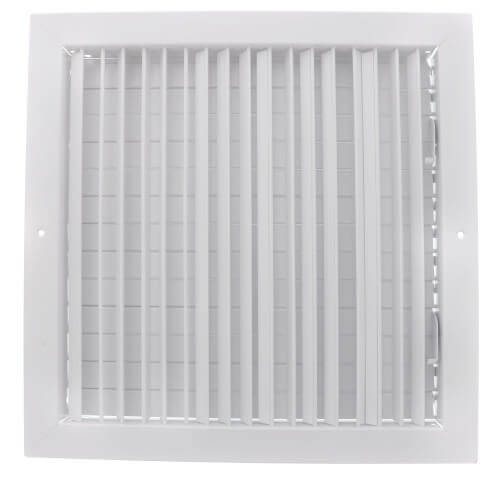 """12"""" x 12"""" (Wall Opening Size) White Commercial Supply Register (821 Series) Product Image"""