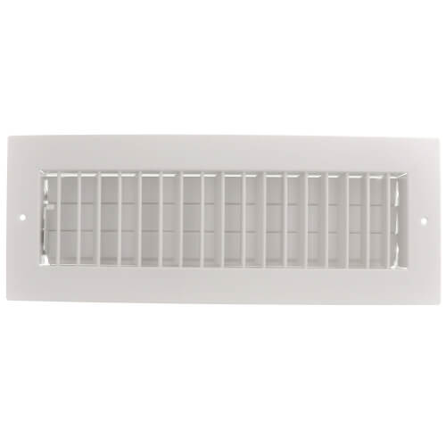 """14"""" x 4"""" (Wall Opening Size) White Commercial Supply Register (821 Series) Product Image"""