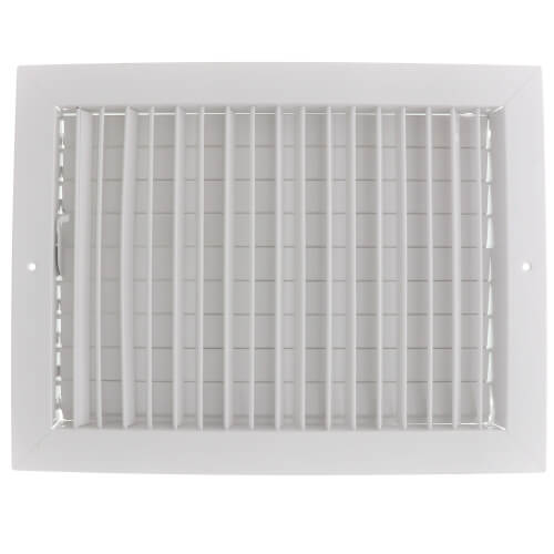 "14"" x 10"" (Wall Opening Size) White Commercial Supply Register (821 Series) Product Image"