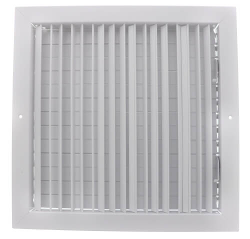"""14"""" x 14"""" (Wall Opening Size) White Commercial Supply Register (821 Series) Product Image"""
