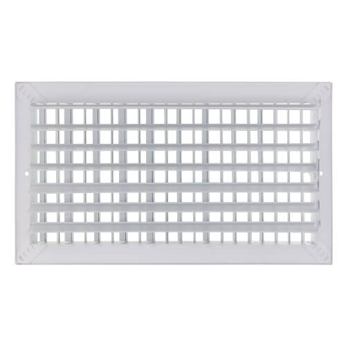 """16"""" x 8"""" (Wall Opening Size) White Commercial Supply Register (821 Series) Product Image"""