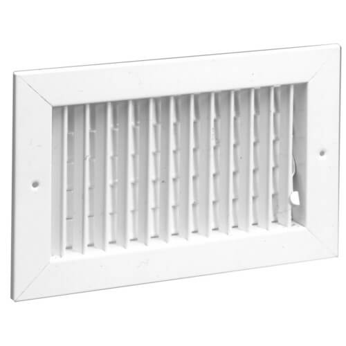 """24"""" x 6"""" (Wall Opening Size) White Commercial Supply Register (821 Series) Product Image"""