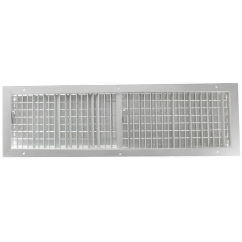 """30"""" x 8"""" (Wall Opening Size) White Commercial Supply Register (821 Series) Product Image"""