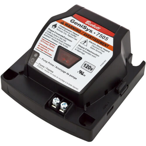 7505P GeniSys Cad Cell Oil Primary Control w/ 15 sec Pre-Purge & 2 min Post-Purge (Replaces R7184P Relay Controls) Product Image
