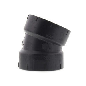 """2"""" Hub ABS DWV 22-1/2° Elbow Product Image"""
