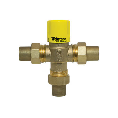 """1/2"""" Sweat Thermostatic Mixing Valve (Lead Free) Product Image"""