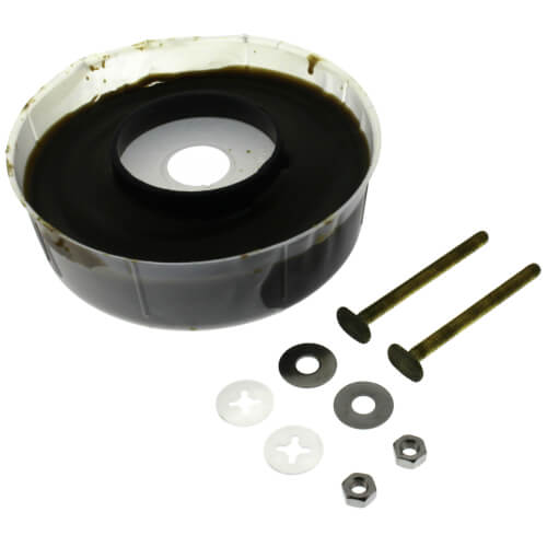 Extra Thick Reinforced Toilet Wax Ring Kit w/ Flange & Bolts Product Image