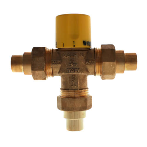 """1/2"""" Sweat Thermostatic Mixing Valve w/ Integral Check (Lead Free) Product Image"""