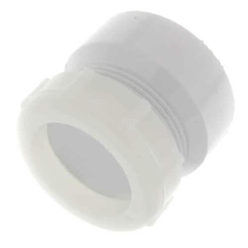 "1-1/2"" PVC DWV Female Trap Adapter w/ Plastic Nut (Hub x Slip) Product Image"