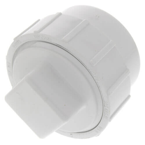 """2"""" PVC DWV Fitting Cleanout Adapter w/ Plug Product Image"""
