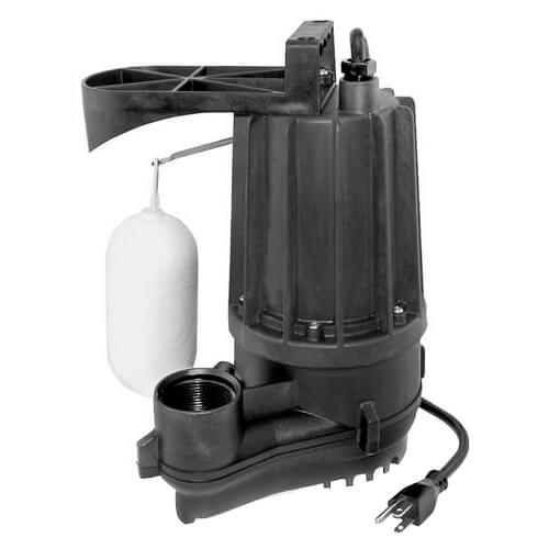 Aqua-Mate N76 Thermoplastic Non-Automatic Sump Pump - 1/2 HP, 9 Ft Cord Product Image