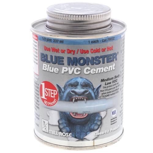 8 oz. Blue Monster 1/2 Pint 1-Step PVC Cement (Blue) Product Image