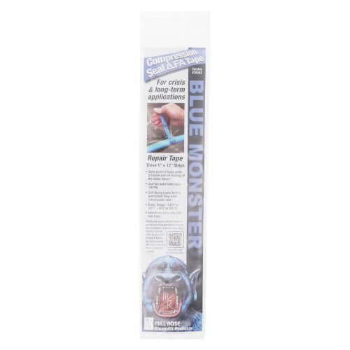 """1"""" x 12"""", 3-Piece Blue Monster Compression Tape Product Image"""